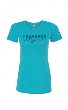 Ladies' Blue Crew T-Shirt