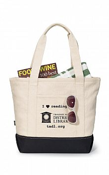 I Love Reading Zippered Tote Bag
